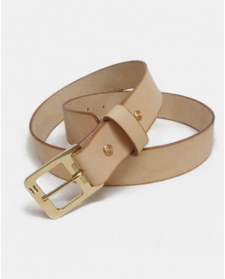 Natural leather belt