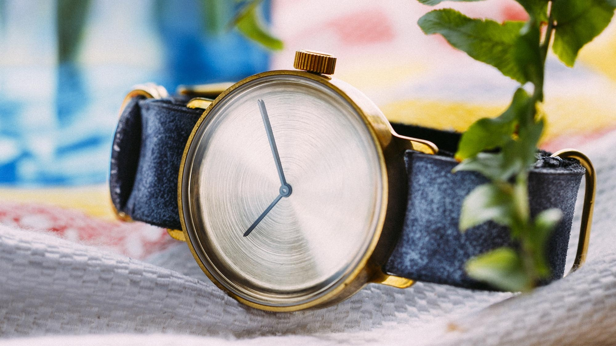 Watch 1972 with leather strap