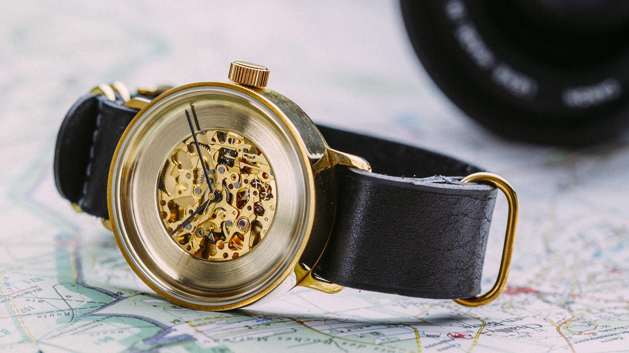 Watch with strap