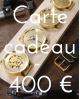 Carte cadeau 400 €